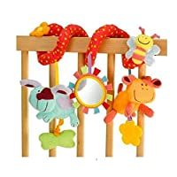 Baby Infant Toys Travel Activity Spiral Hanging Play Toy for Cot Car Seat Pram