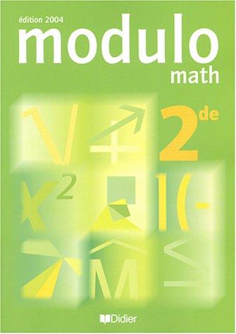 Modulo, 2nde : Livre