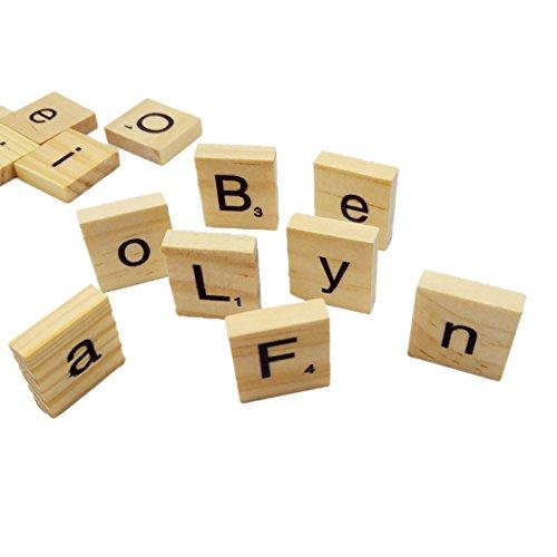 100-Mix Aus Holz Scrabblefliesen Buchstaben Handwerk Alphabet Brettspiel Rechtschreibung Spielzeug