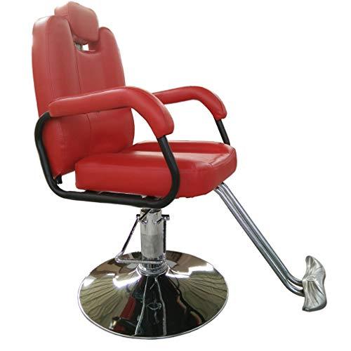 Dioe poltrona da barbiere reclinabile idraulica per parrucchiere, attrezzatura per saloni di bellezza, sedia speciale per tatuaggi, sollevabile e ribaltabile, girevole, in pelle di alta qualità