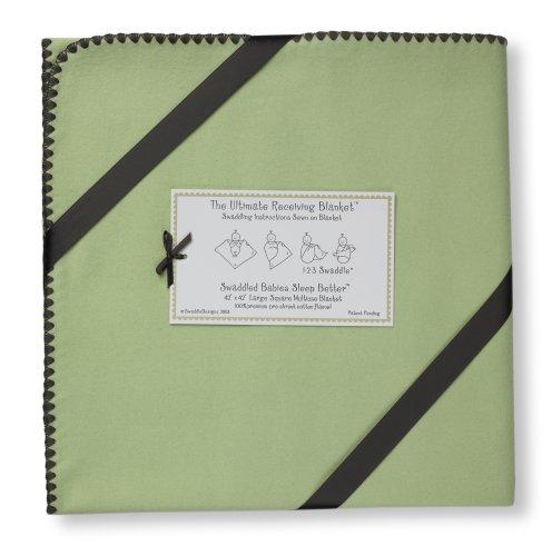 SwaddleDesigns SD-008LM Puckdecke für Neugeborene in Grün (Frisch Pastell)