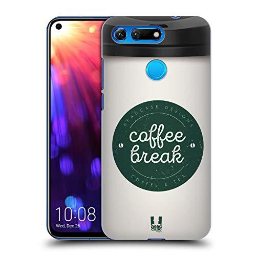Head Case Designs Weiss Kaffeetassen Harte Rueckseiten Huelle kompatibel mit Huawei Honor View 20 / V20