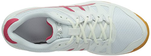Asics Gel Upcourt, Chaussures de sports en salle femme Blanc (Te/Raspbe)