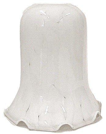Flocon de neige blanc Abat-jour en verre de remplacement pour pinces à ressort