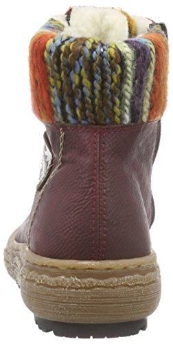 Rieker - Z7943, Bottines Pour Femmes Rouges (wine / Kastanie / Orange-multi)