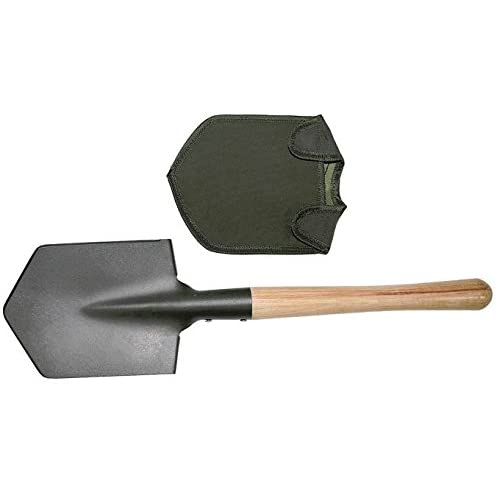41DAb%2BTSSEL. SS500  - Max Fuchs Shovel OD Green Extra Solid Wooden Handle Cover