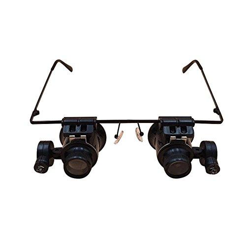 20X Kopf Schmuck Identifikation Lupe mit LED-Licht Mikroskop Brille beobachten Wartung Lupe