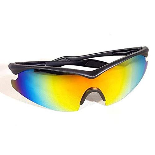 Hapyshop Radfahren Sonnenbrille Männliche Frauen Sport Sunglesses Lauf Military Stil Sonnenbrille Aviator Gelb Tac Gläser Wie im Fernsehen gesehen