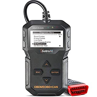 AstroAI OBD2 Reader, OS320 OBD II Scanner Auto Check Engine Code Reader Car Diagnostic Tool Automotive Vehicle Scanner, Black