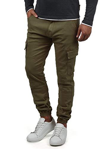 Indicode Bromfield Herren Cargohose Lange Hose Mit Taschen, Größe:L, Farbe:Army (600)