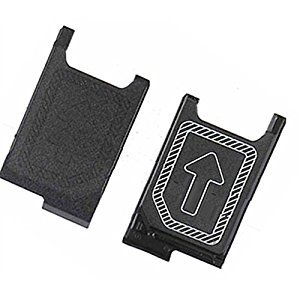 MMOBIEL Slot Vassoio Tray per Carta Nano SIM per Sony Xperia Z3 / Z3 Compact / Z5 Compact Mini D6603 D6653 D5833 und Z5 E5823 E5803 (Nero)