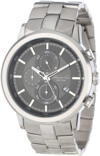 Kenneth Cole Men's KC9225 Silver Stainless-Steel Quartz Watch with Grey Dial