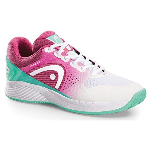 HEAD  Sprint Evo Clay Wo Maop,  Damen Tennisschuhe , Weiß - Blanc (Blanc/Vert/Rose ) - Größe: 39