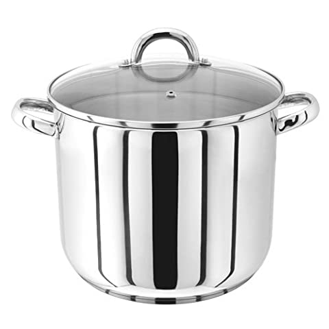 Judge Stockpot with Glass Lid, Silver, 26 cm, 10 Litre