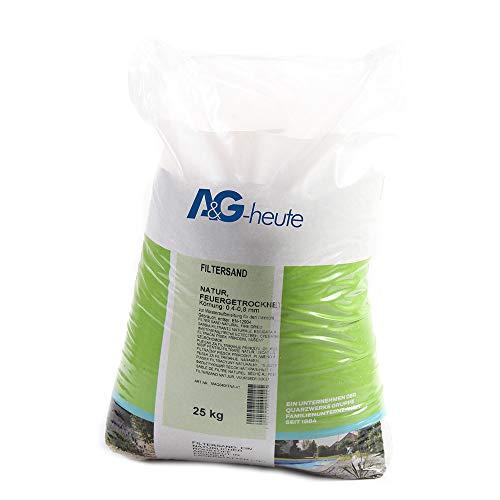 A&G-heute 25kg Filtersand Körnung 0.4-0.8 mm Poolfilter Quarzsand für Sandfilteranlagen Feuergetrocknet