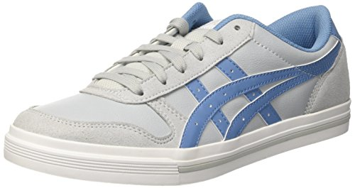 Asics Aaron, Herren Low-top, Grau (Midgrey/Blue Heaven), 44 EU