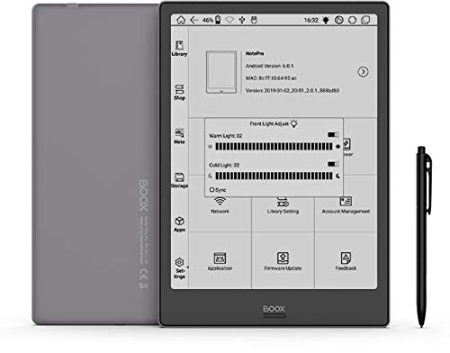 BOOX Note Pro 10.3 Zoll eReader, Dual-Touch, 4GB + 64GB, Android 6.0, WLAN Grau