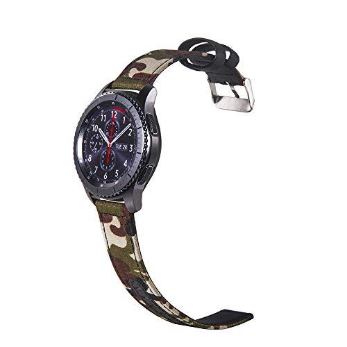 samLIKE Nylon Armband für Samsung Galaxy Watch 42mm für Herren und Damen Camouflage Ersatzarmband Sport-Stil Atmungsaktiv Einstellbar Band, 4 Farben, 75-195MM (A)
