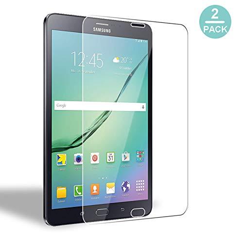 [2 Stück] WEOFUN Kompatibel mit Panzerglas Schutzfolie Samsung Galaxy Tab S2 8.0 [0.33mm, 9H, Ultra-klar]