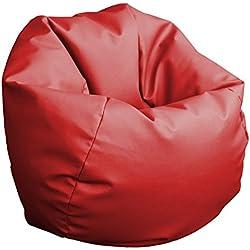 Puff Pelota 60cm diámetro (Rojo)