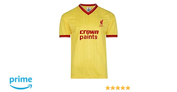 official photos 762f7 ea1db LFC Liverpool 1982 Away Crown Paints S/S Retro Football Shirt - Yellow