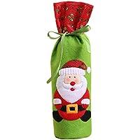 Pinji Funda Protectora para Botella de Vino Champán Decoración para Fiesta de Navidad de Dibujos Animados Cretivo Lindo Agregar un Ambiente Festivo #1