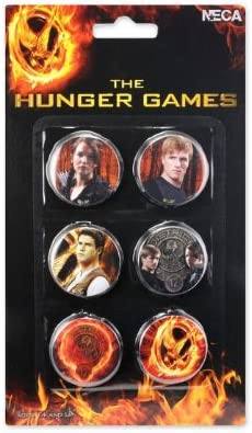NECA The Hunger Games Movie broches Lot de 6