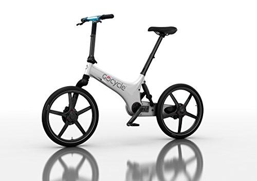 Elektrische Fahrrad zerlegbaren Design, GoCycle G3 Weiß mit base pack Flug Geschenk für Europa für 2 Personen (blau)