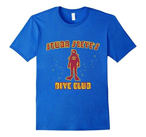 Scuba Steve's Dive Club T-Shirt-Herren, Größe M-Königsblau