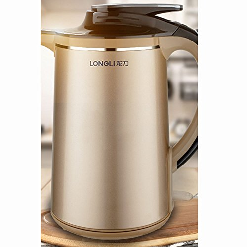 Z&X ZX Electric Kettles Electric Kettle Stainless Steel + ABS Engineering Plastics Chassis Heating 1.8L 1850W Champagne Gold Small Kitchen