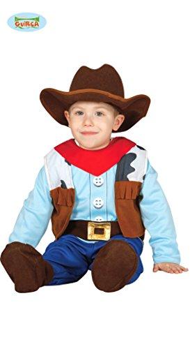 Guirca Kostüm Cowboy Baby Karneval Kinder Größe 1-2 Jahre, Mulicolor, FG83305