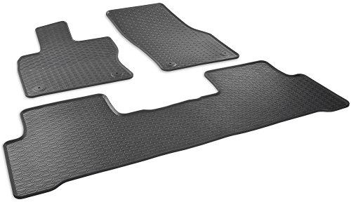 Preisvergleich Produktbild Automatten-Experts 891/3C Auto-Gummifußmatten mit 1cm Rand in Schwarz inklusive Befestigungen (Fahrer- und Beifahrerseite) 3-teilig