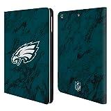 Head Case Designs Offizielle NFL Marmor Farbig 2018/19 Philadelphia Eagles Brieftasche Handyhülle aus Leder für iPad Air (2013)