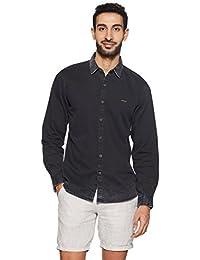 Wrangler Men's Solid Regular Fit Casual Shirt