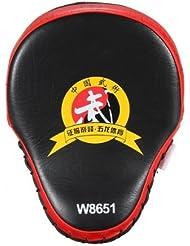 1x MMA boxeo Kick artes de enfoque Punch Pad Karate Muay objetivo formación guante guante (rojo)