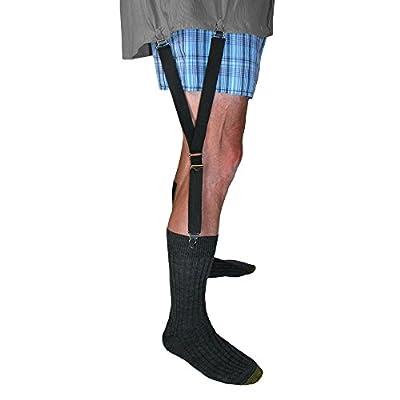 CTM Unisex Shirt Stays and Sock Garters, Split Black