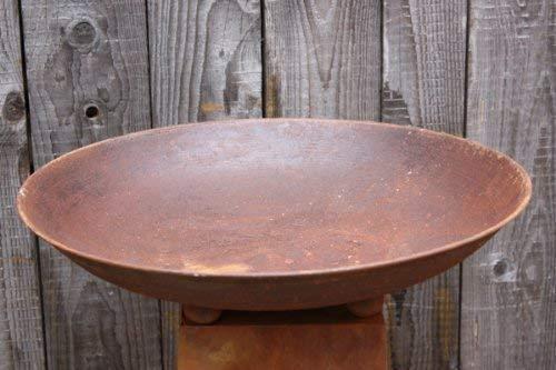 Edelrost Deko Schale rund mit eimen Ø 47 cm, Rostschale Metall
