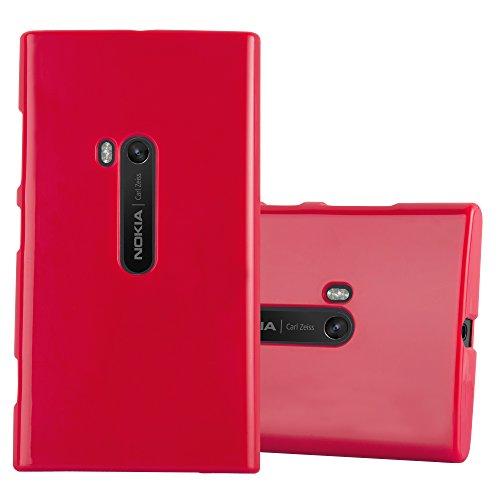 Preisvergleich Produktbild Cadorabo Hülle für Nokia Lumia 920 - Hülle in Jelly ROT – Handyhülle aus TPU Silikon im Jelly Design - Silikonhülle Schutzhülle Ultra Slim Soft Back Cover Case Bumper