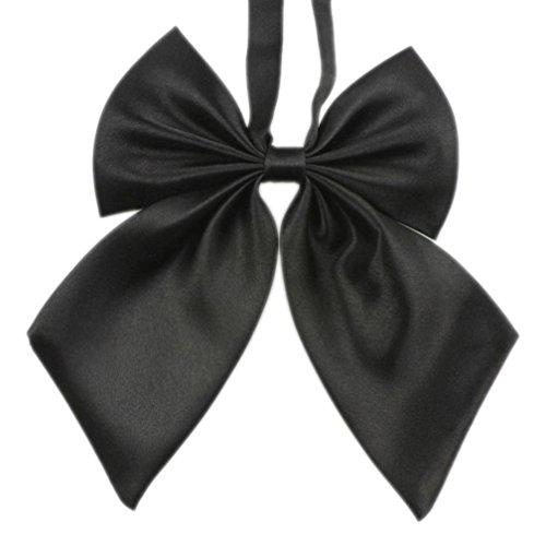 Krawatten Damen Bowknot SOMESUN Uniformen Cosplay Einfarbig Student Maedchen Arbeiten Fliege Bowknot Krawatten (Schwarz)