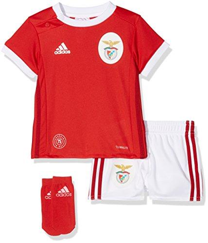 adidas Kinder Lissabon Heimausrüstung Benfica Mini Kit, Benred/White, 74 (Fußball Benfica Trikot)