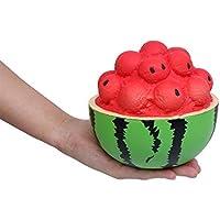 Squishys Grandes kawais,15x11cm Suave Juguetes de Sandia Squishies Squeeze Toy Slow Rising Decompression Stress Relief Juguete Regalo para niños y Adultos,de Gusspower