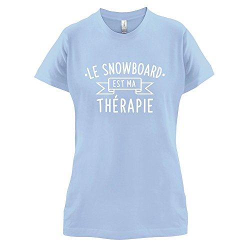 Le snowboard est ma thérapie - Femme T-Shirt - 14 couleur Bleu Ciel