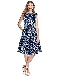 AMPLE CREATION Women s Western Wear Designer Knee Length Georgette Skater  Dress Without Belt(Belt is 4a1797867