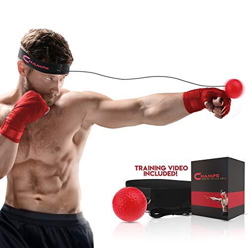 Champs Boxing Reflex Ball Fight Vitesse d'entraînement Vidéo d'entraînement exclusive. Apprenez les techniques de base des arts martiaux, Perdez du poids, Améliorez votre temps de réaction