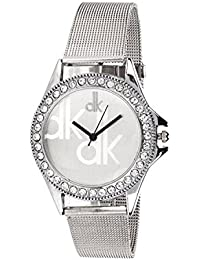 PETER INDIA,,White Dial Analog Metal Strap Wrist Watch For Girls - Women