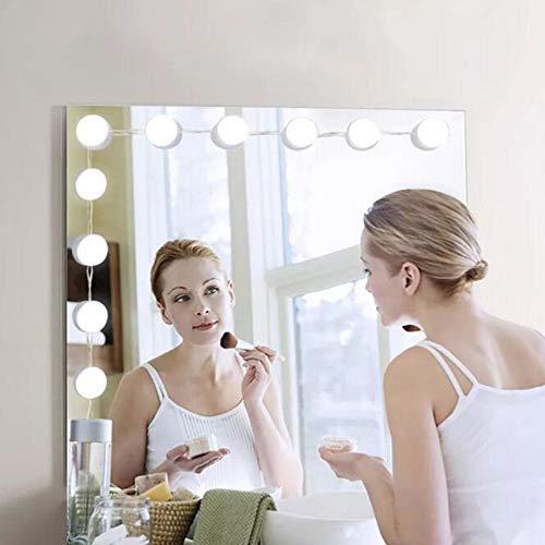 10LED Mirror Vanity LED Light Bulbs Kit USB Charging Port Cosmetic Lights -