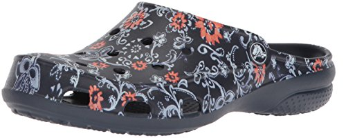 crocs Freesail Graphic Clog Women, Damen Clogs, Blau (Navy/Floral), 37/38 EU (Casual-comfort-clogs Womens)