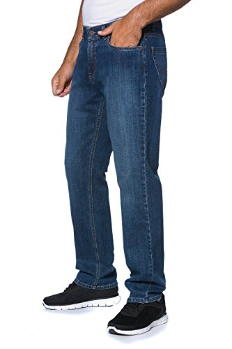Comfort Fit Herren Jeans (JP 1880 Herren große Größen bis 66 | Jeans-Hose | 5-Pocket-Form | Denim Hose im Regular Fit | Stretch-Comfort | Baumwolle | blue stone 28 703354 91-28)
