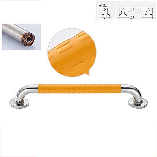 SXMXN PVC-Rohr Haltegriff rutschfest Handlauf Chrom aus Edelstahl Griffe fur Senioren und Deaktiviert Laden 300KG,48