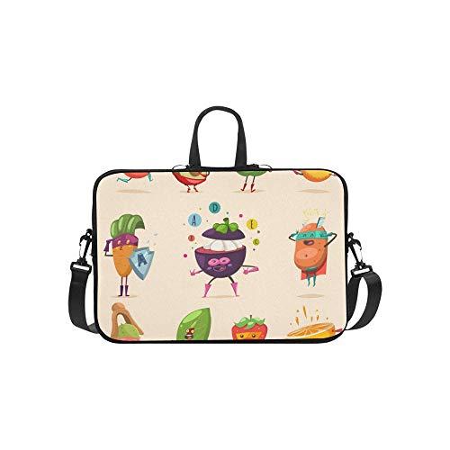 Lustige Obst Gemüse Superheld Kostüm Aktentasche Laptoptasche Messenger Schulter Arbeitstasche Crossbody Handtasche Für Geschäftsreisen (Für Superheld-kostüm-muster Erwachsene)